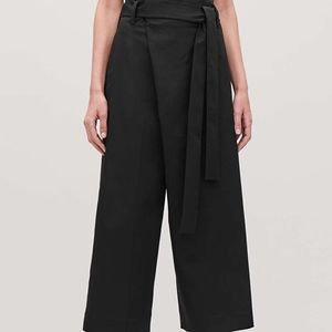 COS Paper Bag Crop Pleated Trouser